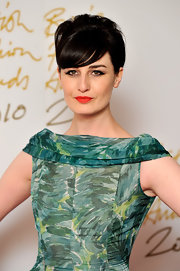 Model Erin O'Connor showed off a classic French twist while attending the British Fashion Awards.