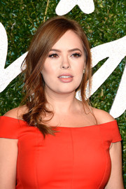 Tanya Burr was sexily coiffed with a very loose braid at the British Fashion Awards.