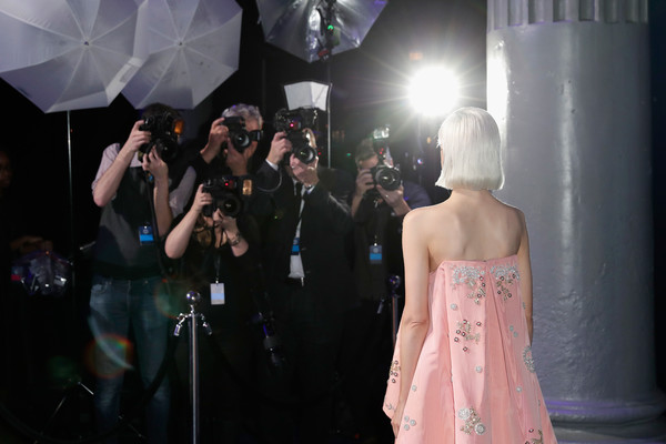 More Pics of Andrea Riseborough Bob (1 of 8) - Short Hairstyles Lookbook - StyleBistro [fashion,dress,beauty,pink,event,yellow,fashion design,haute couture,gown,performance,red carpet arrivals,andrea riseborough,british independent film awards,london,england,old billingsgate]