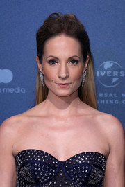 Joanne Froggatt attended the British Independent Film Awards wearing her hair in a slightly messy half-up style.