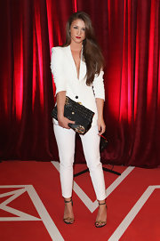 Brooke Vincent opted for a chic white pantsuit instead of a gown when she attended the British Soap Awards.