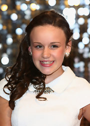 Ellie Leach was a charmer at the British Soap Awards with her hair in side-swept curls.