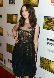 Alison Brie looked endearing in an embellished sheer LBD at the Critics' Choice Television Awards.