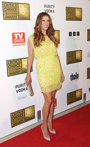 Kate Walsh was sunny in this yellow sequined mini at the Critics' Choice Awards.