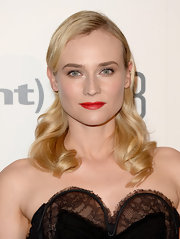 Diane Kruger topped off her old Hollywood look with this glossy wavy 'do.