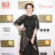 Emily Deschanel's vintage-inspired dress