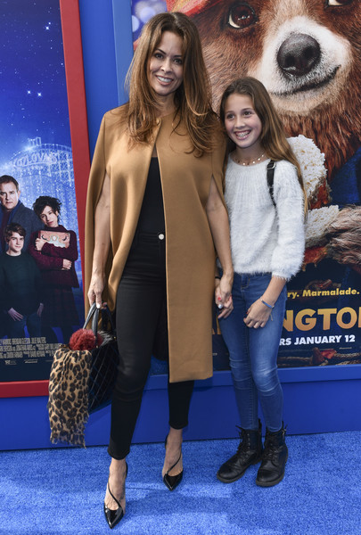 Brooke Burke-Charvet Leather Tote [paddington 2,premiere,red carpet,fashion,carpet,event,electric blue,fawn,long hair,daughter,brooke burke-charvet,regency village theatre,california,westwood,warner bros. pictures,red carpet,premiere,premiere]