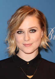 Evan Rachel Wood looked cute with her short, asymmetrical waves at the 'Art of Discovery' book launch.