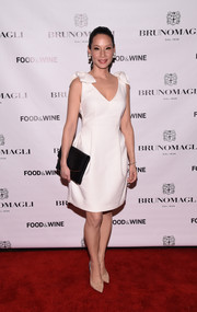 Lucy Liu looked downright darling in a Lanvin LWD with bowed shoulders at the Taste of Italy event.