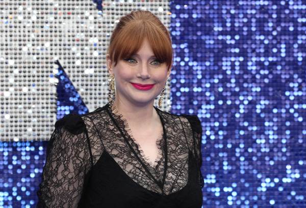 Bryce Dallas Howard Classic Bun [hair,lady,lip,electric blue,hairstyle,performance,singer,music artist,smile,black hair,red carpet arrivals,bryce dallas howard,rocketman,uk,england,london,odeon luxe leicester square,premiere,premiere]
