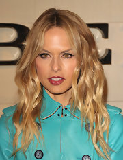 Rachel Zoe wore a berry-stained lip with a hint of gloss at the Burberry Body launch.