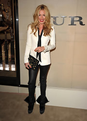 Cat Deeley gave her ensemble a rocker vibe with a black studded clutch.