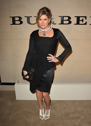 Grace Potter carried a sleek black leather clutch with a studded strap to the launch of Burberry Body.