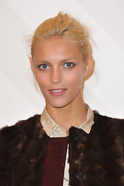 Anja Rubik's updo at the Burberry store opening looked like it was done in a hurry, but she still turned out gorgeous.