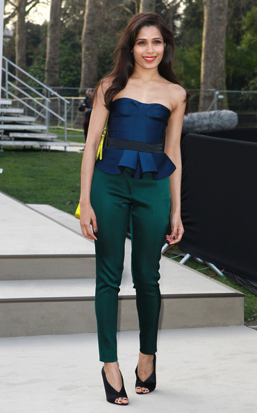 More Pics of Freida Pinto Peplum Top (2 of 6) - Freida Pinto Lookbook - StyleBistro