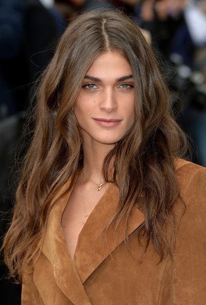 More Pics of Elisa Sednaoui Strappy Sandals (1 of 5) - Elisa Sednaoui Lookbook - StyleBistro [hair,fashion model,hairstyle,face,long hair,blond,eyebrow,brown hair,fashion,lip,elisa sednaoui,london,england,burberry prorsum - arrivals,lfw,show,london fashion week spring]