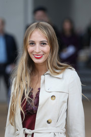 Harley Viera-Newton was hippie-chic at the Burberry Prorsum fashion show with this super-long center-parted 'do.