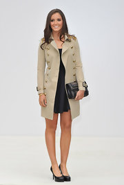 Laura Robson revealed her super stylish side with this embellished beige military coat at the 2012 Burberry fashion show.