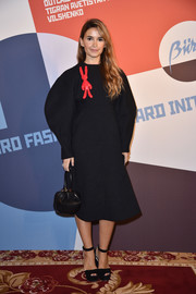 Miroslava Duma went quirky in a big-sleeved LBD adorned with a red rabbit for the Buro 24/7 Fashion Forward Initiative.