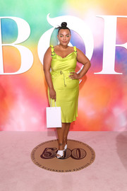 Paloma Elsesser turned heads in a slinky chartreuse silk dress at the 2018 #BoF500 gala.
