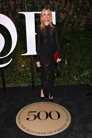 Lauren Santo Domingo joined the sheer trend with this black ruffle dress by Proenza Schouler at the #BoF500 gala.