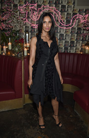 Padma Lakshmi went for a deconstructed-chic polka-dot LBD when she attended the Business of Fashion dinner.