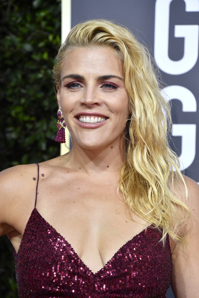 Busy Philipps Side Sweep [stock photography,hair,blond,hairstyle,eyebrow,beauty,lip,smile,shoulder,long hair,brown hair,arrivals,busy philipps,celebrity,hair,hairstyle,fashion,eyebrow,beauty,golden globe awards,busy philipps,the golden globe awards ceremony,celebrity,dawsons creek,red carpet,actor,television,stock photography,2020,fashion]
