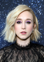 Taissa Farmiga was edgy-glam with her short wavy 'do at the premiere of 'The Twilight Zone.'