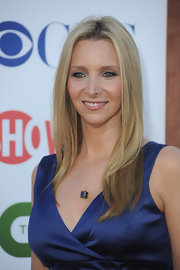 Lisa Kudrow wore a pretty center-parted straight 'do at the 2011 TCA party.