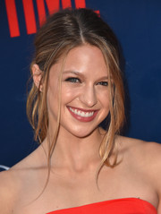 Melissa Benoist looked cute with her messy ponytail at the CBS Summer TCA Party.