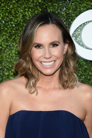 Keltie Knight wore her locks down to her shoulders in piecey waves during the CBS Summer TCA Party.