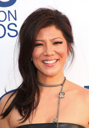 Julie Chen was rocker-glam with this edgy side sweep at the CBS Summer Soiree.