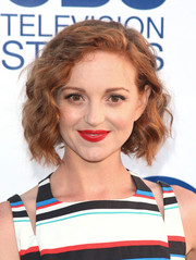 Jayma Mays looked darling with her short wavy hairstyle at the CBS Summer Soiree.