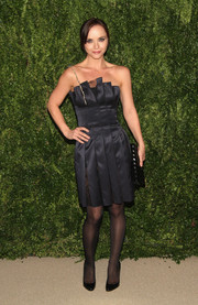 Christina Ricci chose an origami-inspired strapless LBD by Thakoon for the Fashion Fund finalists celebration.