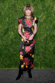 Anna Wintour was blooming in an ankle-length floral dress at the CFDA/Vogue Fashion Fund 15th anniversary event.