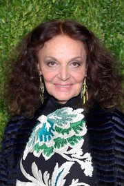 Diane von Furstenberg attended the CFDA/Vogue Fashion Fund 15th anniversary event wearing her signature shoulder-length curls.