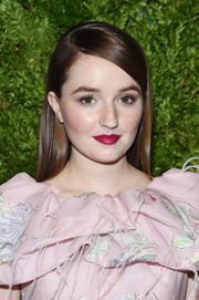 Kaitlyn Dever looked elegant with her sleek straight hairstyle at the 2019 CFDA/Vogue Fashion Fund Awards.