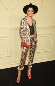 Tali Lennox proved a pantsuit doesn't have to be too business-like with this floral number by Chanel.