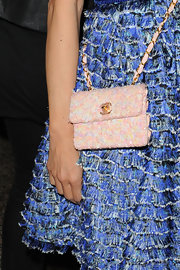 Fashion Writer Helen Lee Schifter showed off a cool Chanel shoulder bag straight from the Spring 2010 collection.