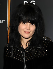 Mosshart shows off her signature front bangs in this photo shoot.