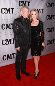 Marjorie Bach looked fabulous at the CMT Artists of the Year event in a long-sleeve beaded LBD.
