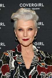 Maye Musk was a rockstar with her punk-glam fauxhawk at the CoverGirl flagship store opening.