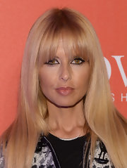 Rachel styled her coif into a '70s-inspired sleek chop with blunt bangs for the Covet Fashion launch event.