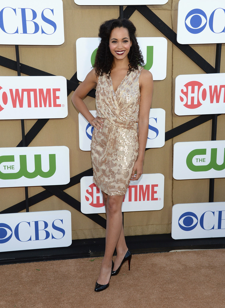Madeleine Mantock in Gold Burnout - The Best Dressed at the Summer TCA ...