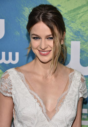 Melissa Benoist was stylishly coiffed with this loose ponytail at the CW Network's 2016 New York Upfront.