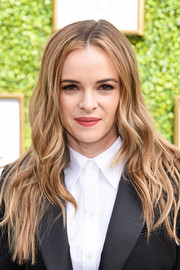 Danielle Panabaker rocked an edgy wavy 'do at the CW Network's fall launch event.
