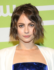 Willa Holland rocked an edgy wavy 'do at the CW Network New York 2015 Upfront.