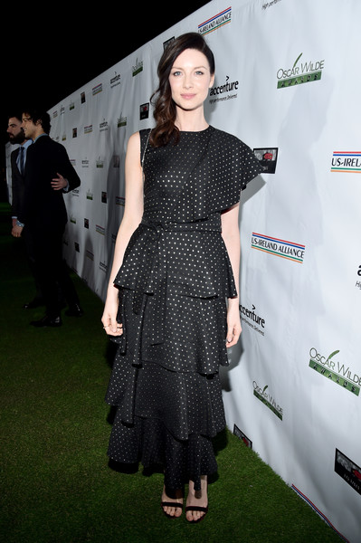 Caitriona Balfe Print Dress