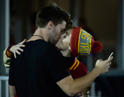 Miley Cyrus stayed cozy with a pompom beanie while out on a date.