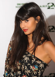 Jameela Jamil showed off her thick shiny locks at a launch party in London.